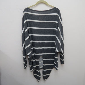 Fantastic Fawn Dolman Striped Tie Front Tunic Top